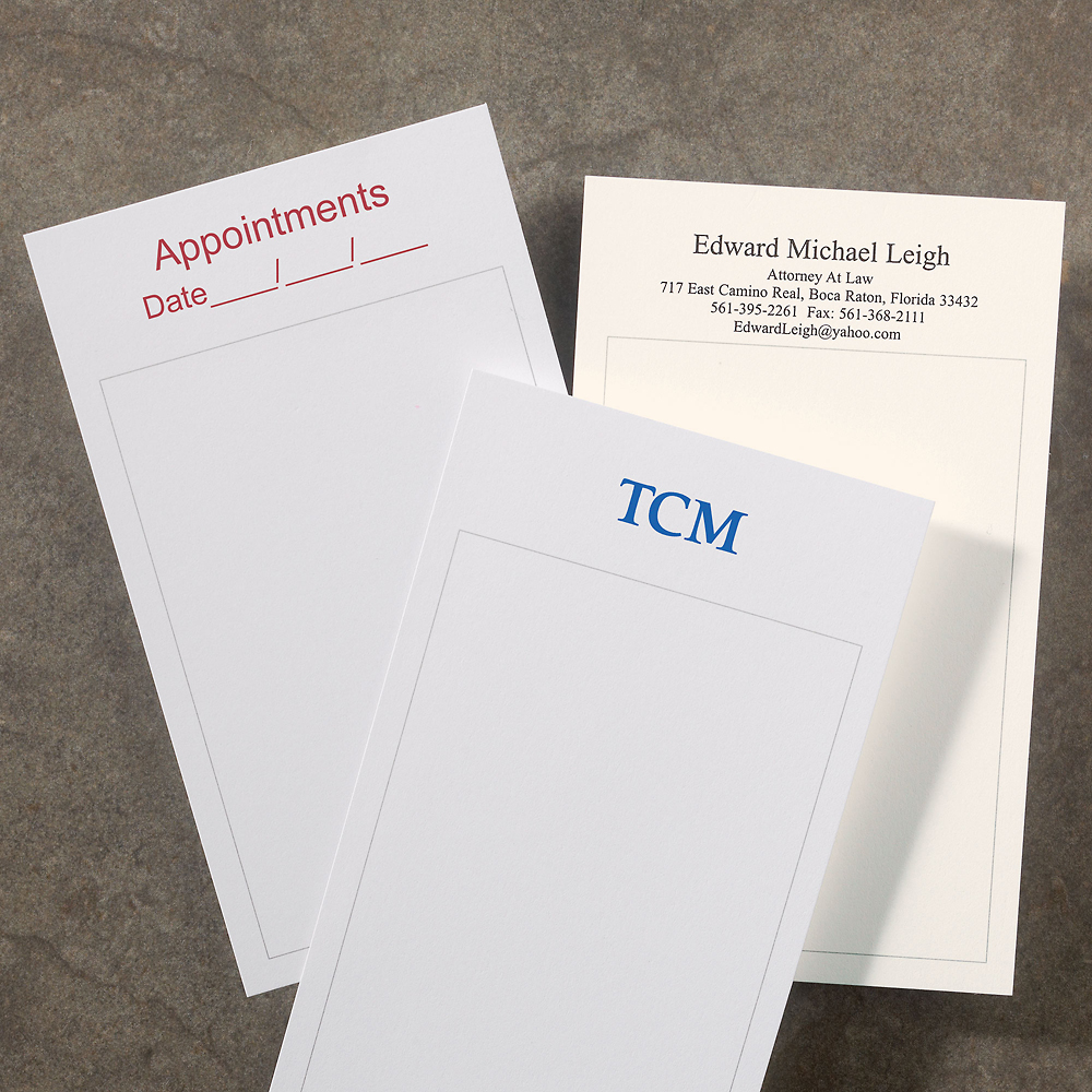 1000 personalized 3 x 5 cards  vertical - personalized index cards