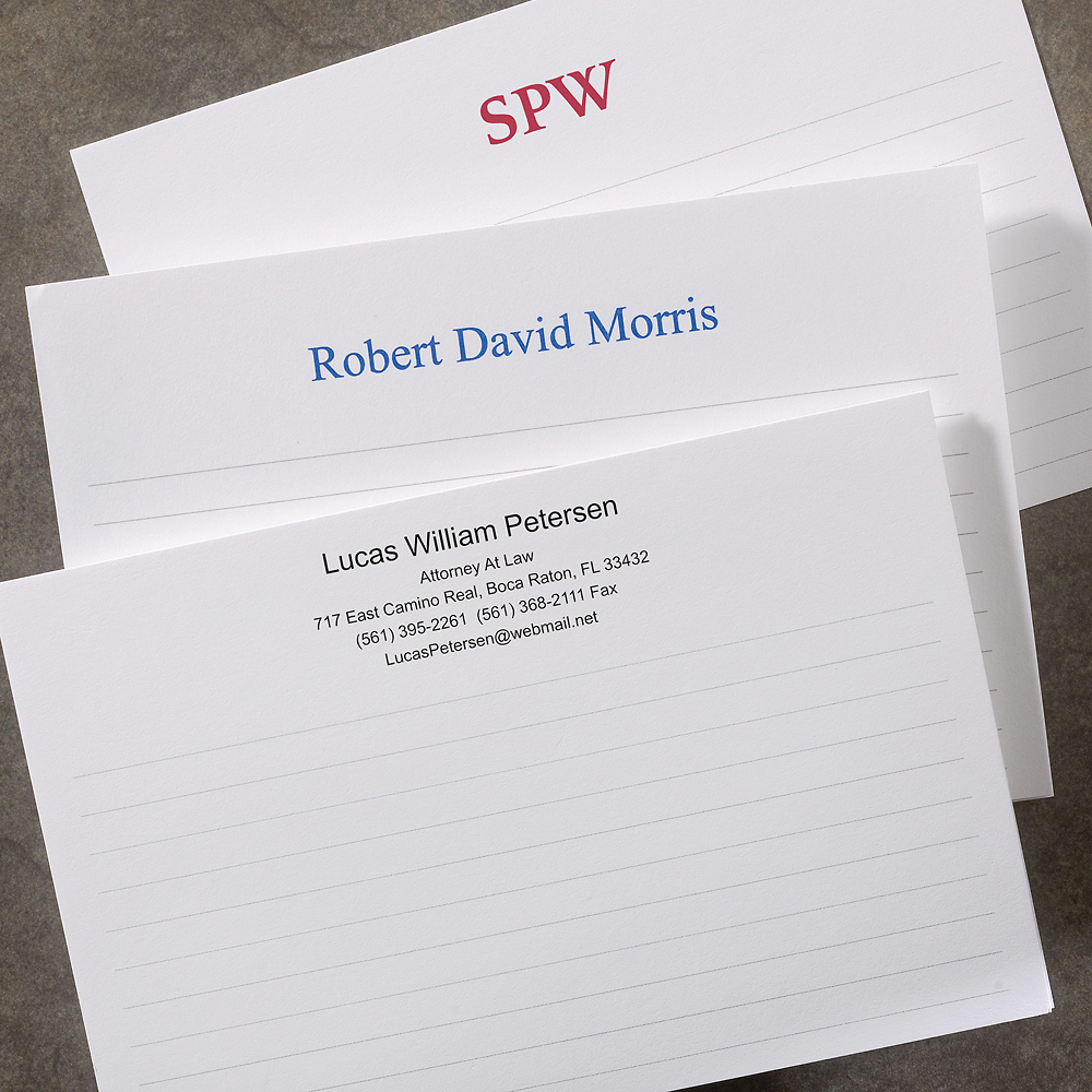 250 personalized 4 x 6 horizontal cards personalized note cards